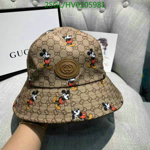 Gucci classic Mickey Mouse pattern fisherman hat fashion casual hat outdoor sun hat