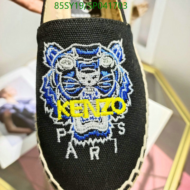 Kenzo classic tiger embroidered deep-mouth shoes fashion casual shoes pea shoes women's shoes