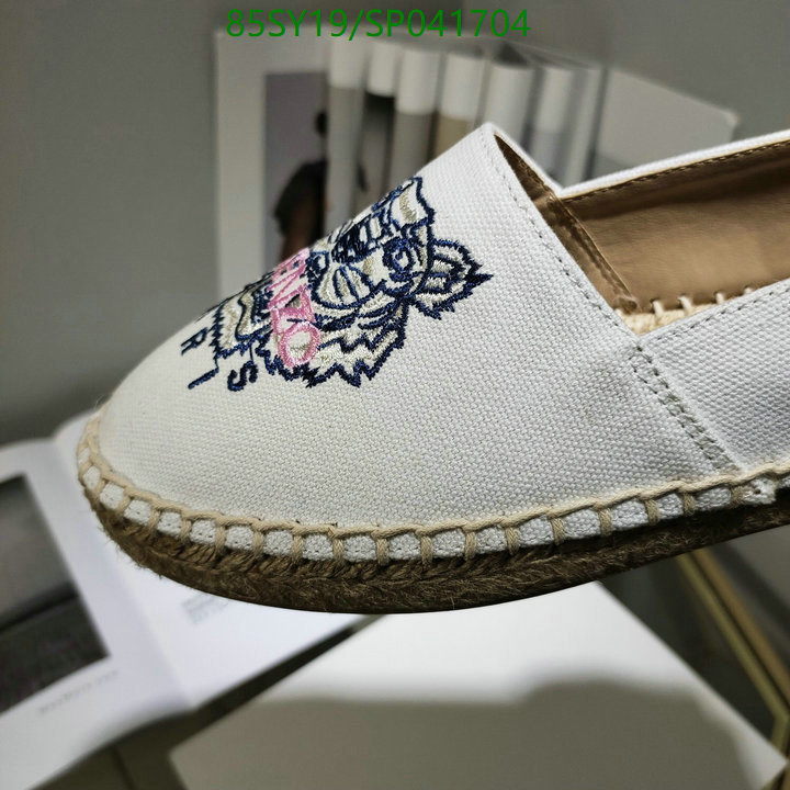 Kenzo Classic Fashion Tiger Embroidered Deep Mouth Shoes Casual Shoes Pea Shoes Women's Shoes