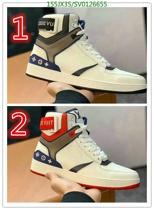 Louis Vuitton Couple Shoes Fashion High Top Shoes Outdoor Hiking Shoes Casual Shoes LV Men's and Women's Shoes