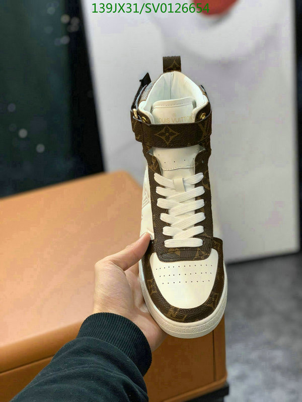 Louis Vuitton fashion classic high-top shoes men's and women's shoes outdoor hiking shoes casual shoes lovers shoes LV shoes