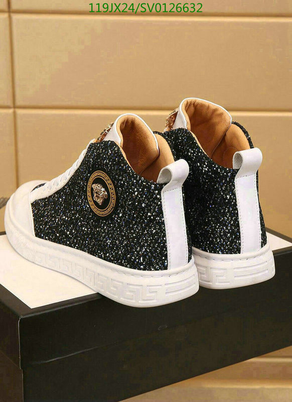 Versace simple short high-top shoes men's shoes sports shoes outdoor casual shoes