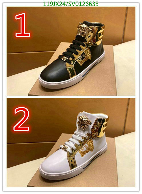 Versace classic print high-top shoes men outdoor hiking shoes casual shoes men's shoes