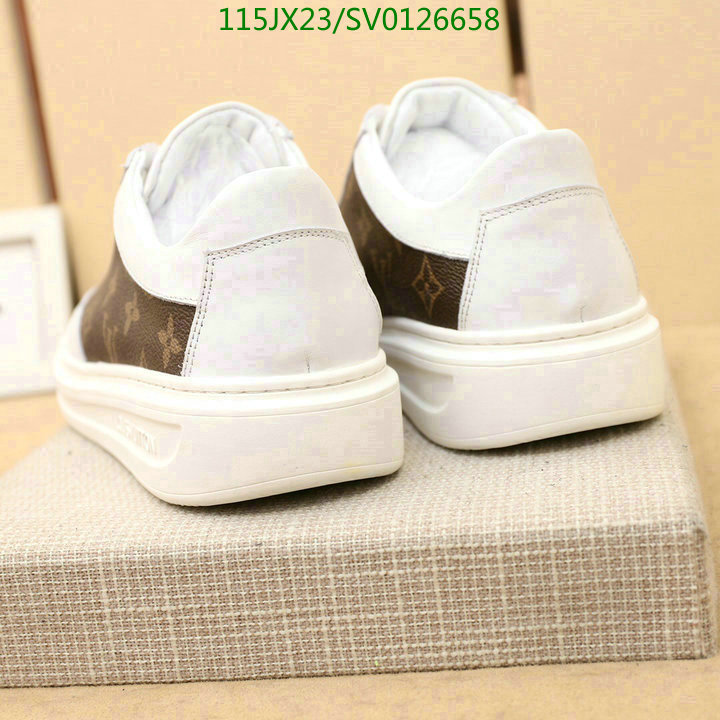 Louis Vuitton classic print black and white sneakers simple casual shoes running shoes LV men's shoes