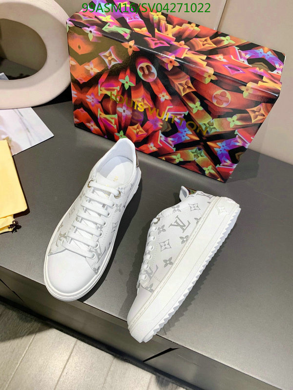 Louis Vuitton outdoor casual shoes fashion white shoes simple lace-up sneakers LV women's shoes