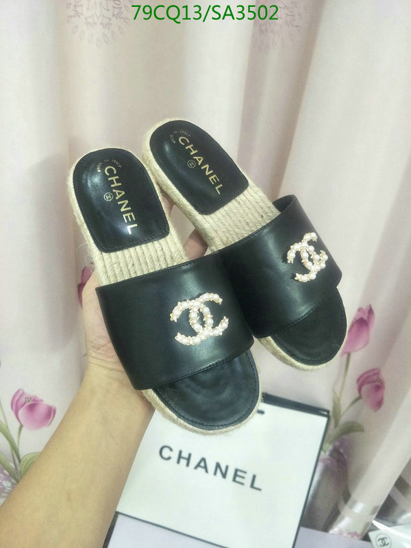 CHANEL slippers ladies summer new outer wear flat slippers fashion slippers ins tide flat non-slip beach shoes women's shoes