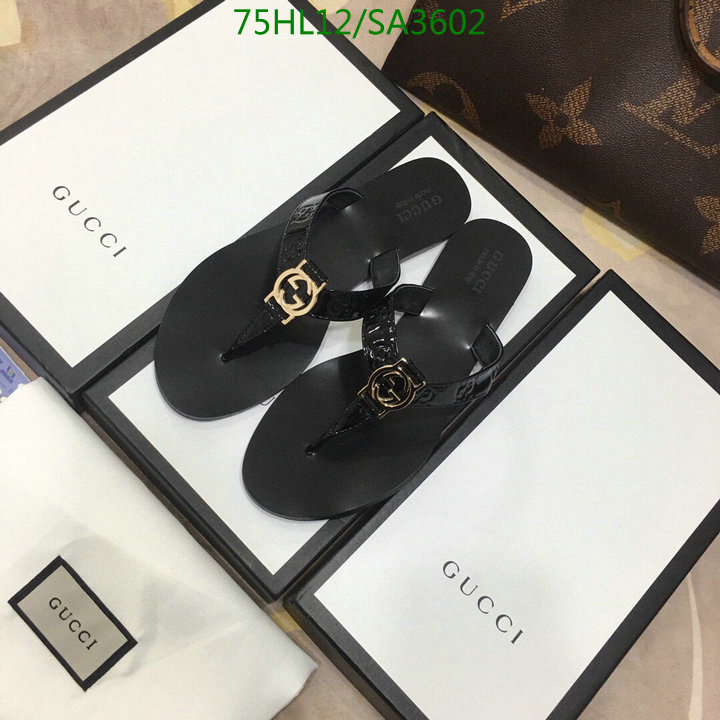 Gucci New Flip-Flops Seaside Holiday Beach Shoes Casual Slippers Men's And Women's Shoes