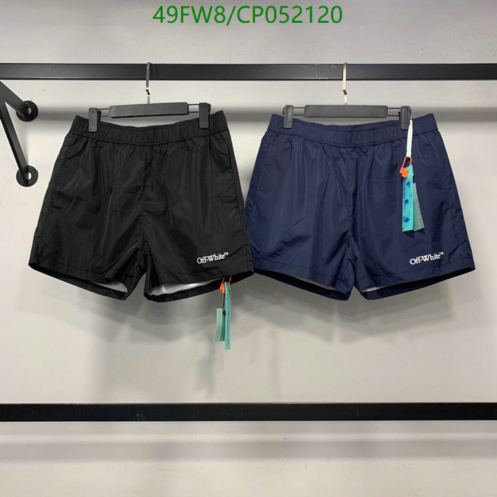 Off-White new casual shorts sports shorts men's and women's clothing