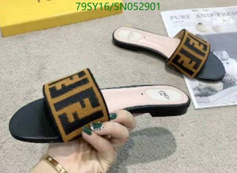 Fendi classic fashion ladies slippers fashion outer slippers home shoes beach shoes women's shoes