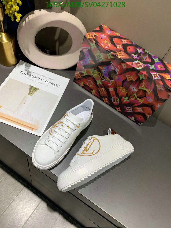 Louis Vuitton outdoor casual shoes simple fashion white shoes comfortable and lightweight lace-up sneakers LV women's shoes