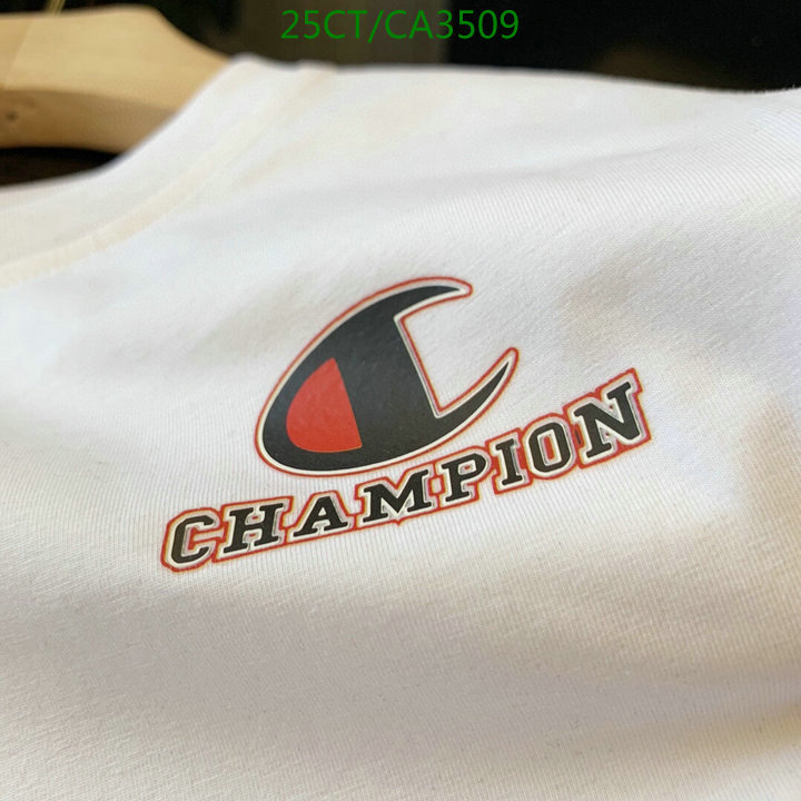 Champion simple and comfortable black and white short-sleeved trend couple T-shirt men's and women's clothing