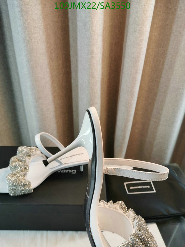 Alexander Wang fashion high heel slippers Flat head slippers Party shoes Elegant ladies casual slippers women's shoes