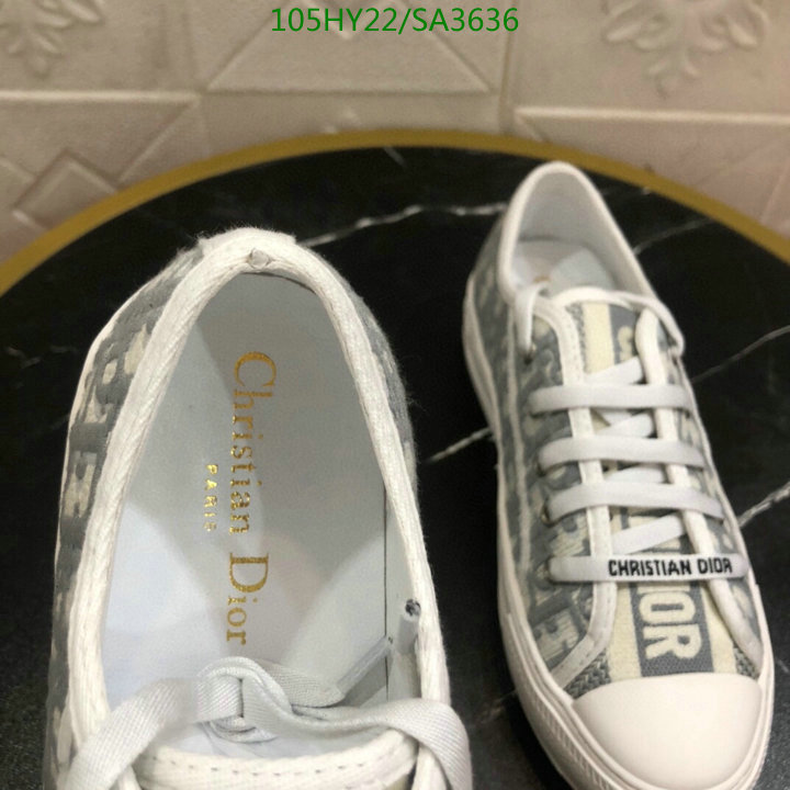 Dior new ladies canvas shoes lace-up sports shoes outdoor casual shoes women's shoes