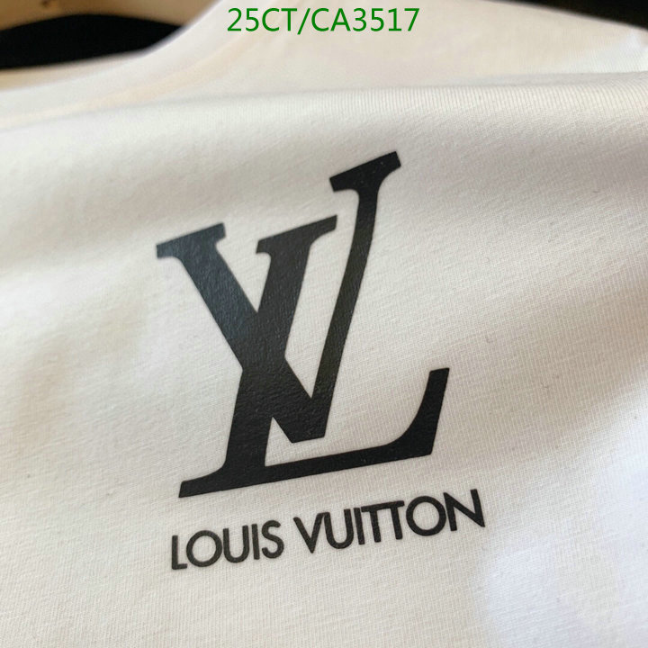 Louis Vuitton simple letter printed T-shirt comfortable cotton round neck short-sleeved black and white short-sleeved couple T-shirt LV men and women clothing