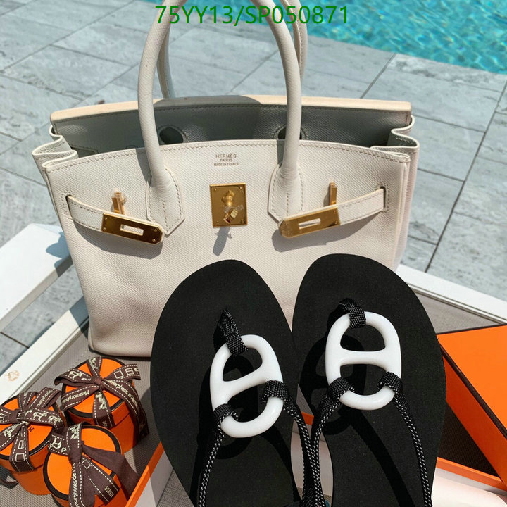Hermes 2021 new summer solid color simple flip flops fashion flat-bottomed non-slip ladies slippers beach slippers lazy shoes women's shoes