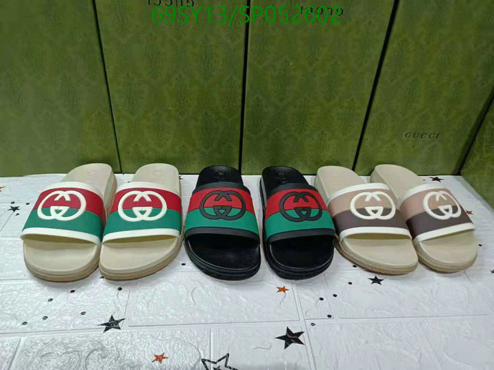Gucci new platform slippers fashion casual slippers beach shoes men's and women's shoes