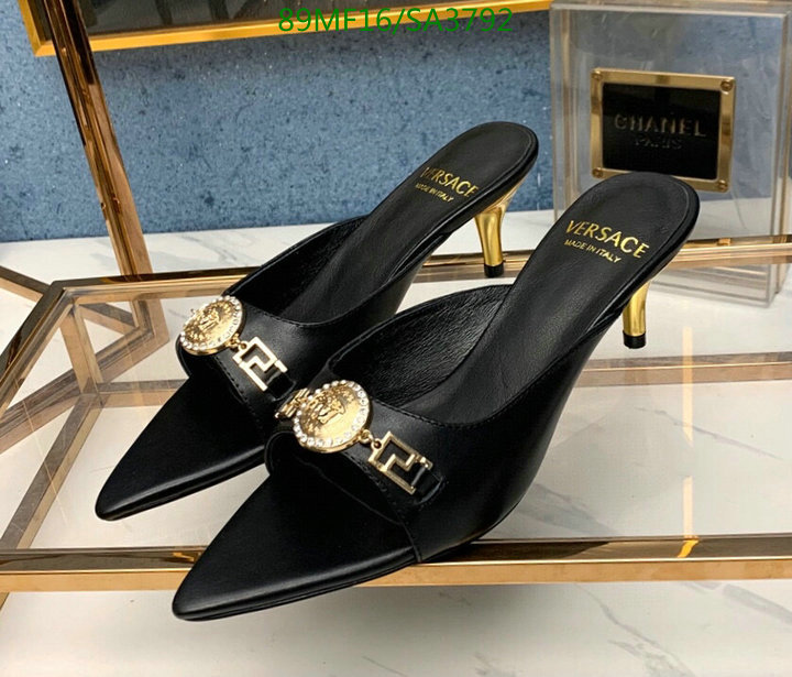 Versace Classic Fashion Pointed Slippers Fashion Ladies Sexy High Heel Slippers Women's Shoes