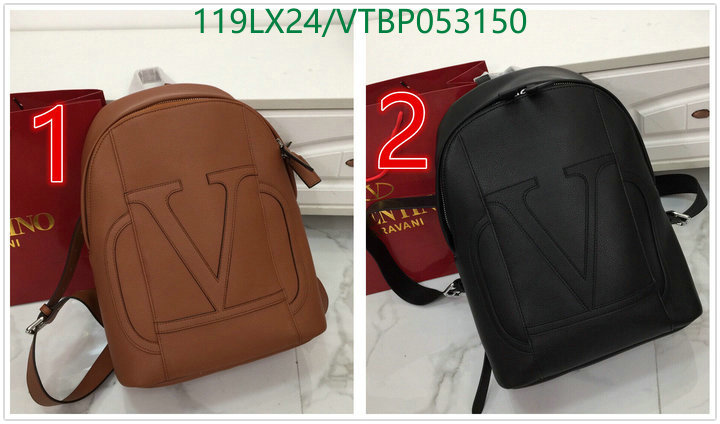 Valentino simple and fashionable backpack outdoor hiking bag large-capacity backpack short-distance travel backpack men's and women's bags 9803