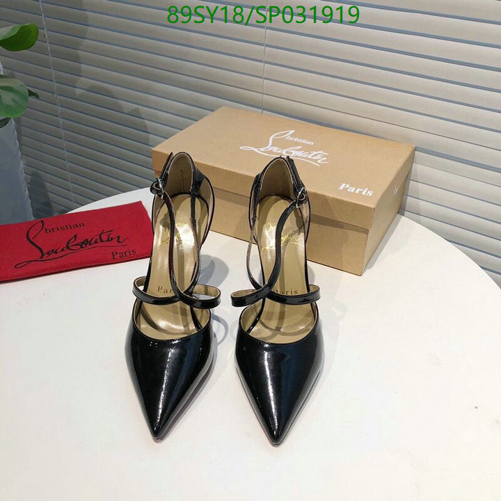 Christian Louboutin black high heels shoes pointed toe stilettos women's shoes
