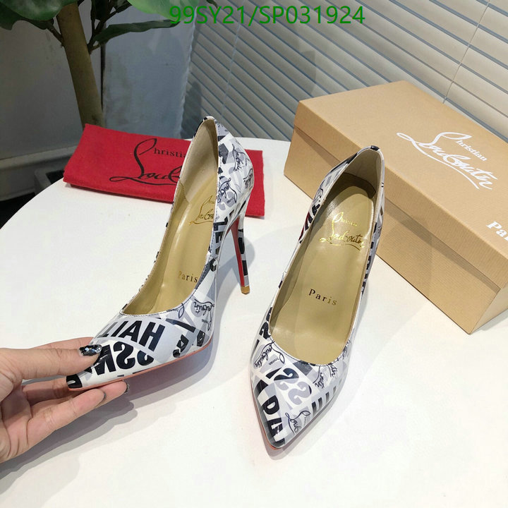 Christian Louboutin women's shoes 3D printed pattern ladies sexy high heels