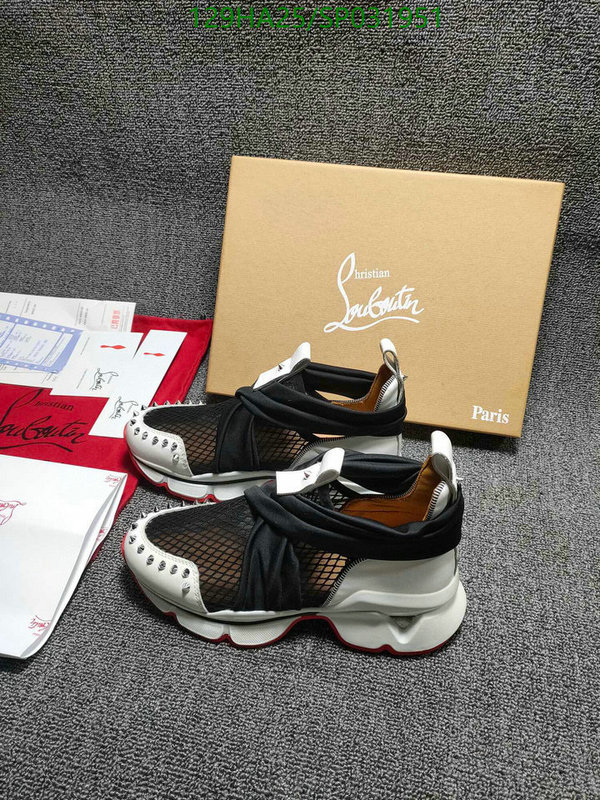 Christian Louboutin lightweight couple shoes outdoor hiking shoes comfortable casual shoes